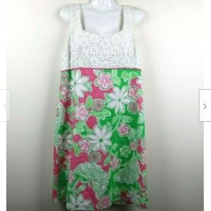 Lilly Pulitzer Sleeveless Floral Lace Dress